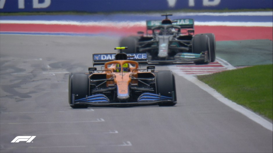 From pole position, Lando Norris was two laps away from his first victory in F1.
