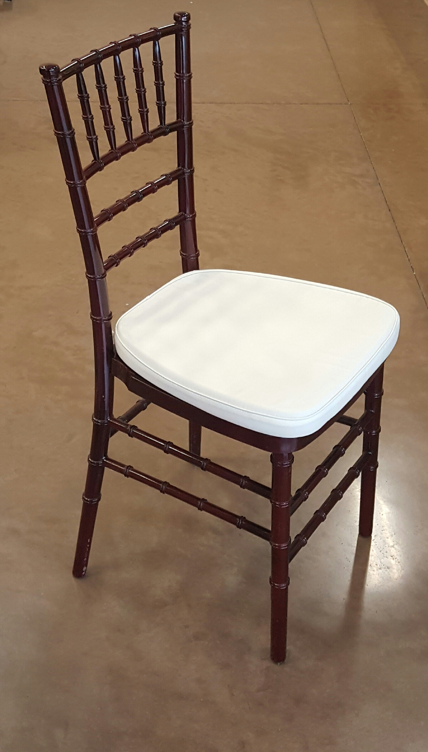 Mahogany Chiavari Chair Mahogany Chiavari Chair W Cushion Giuffra 39s Party Rentals
