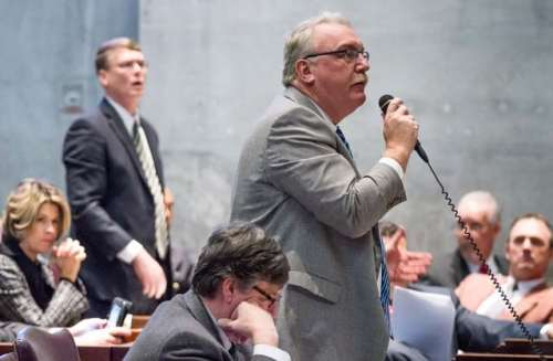 House Democratic Caucus Chairman Mike Turner speaks on the House floor in Nashville, Tenn., on Thursday, Feb. 28, 2013. | Image courtesy of Knoxville News Sentinel