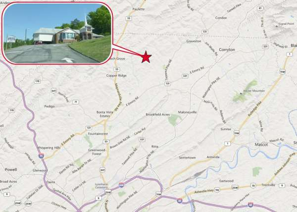 Map of Clear Springs Baptist Church location