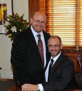 Michael and Gregory at the registry office