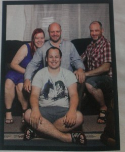 Caitlin, Tomas, Gregory and Michael.  The image that appeared in the Australian