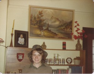 In my cadet uniform Form 3 - 1978