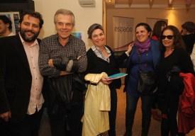 Damián Laplace, Víctor Laplace, Verónica Sánchez Gelós, Lucrecia Cardoso y Ana María Picchio