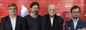 Cacetta, Peña, Martínez Suárez y Avogadro en la presentación del festival.