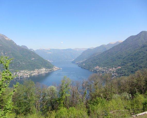 Punto panoramico durante la salita del Lago di Como