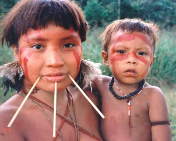 Yanomami Woman Child