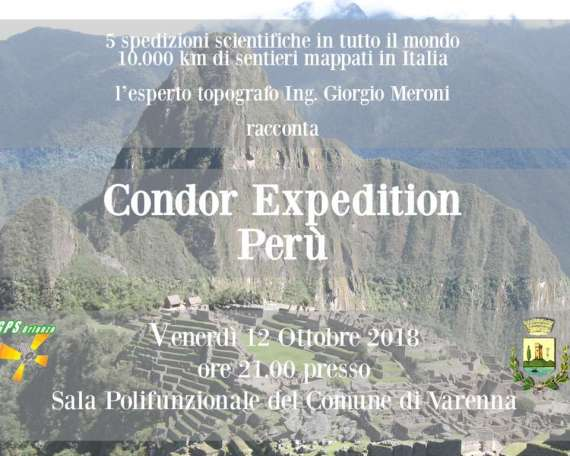 Serata Condor Expedition Peru Varenna