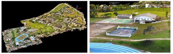 modello superficie digitale campus universitario