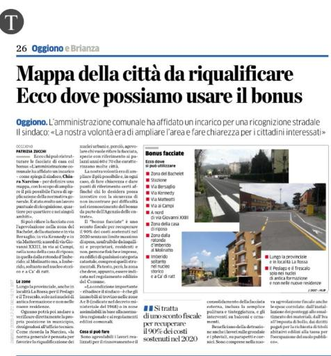 Provincia di Lecco Oggiono bonus facciate