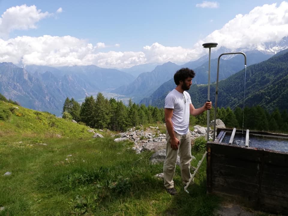 Rilievo GNSS acquedotto fognatura secam Gordona