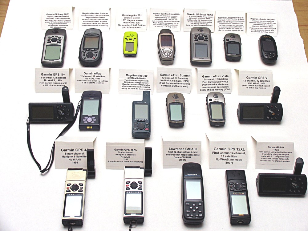 medium resolution of  jack s museum collection of 18 working hand held gps receivers from 1994 to 2005 1 4mb