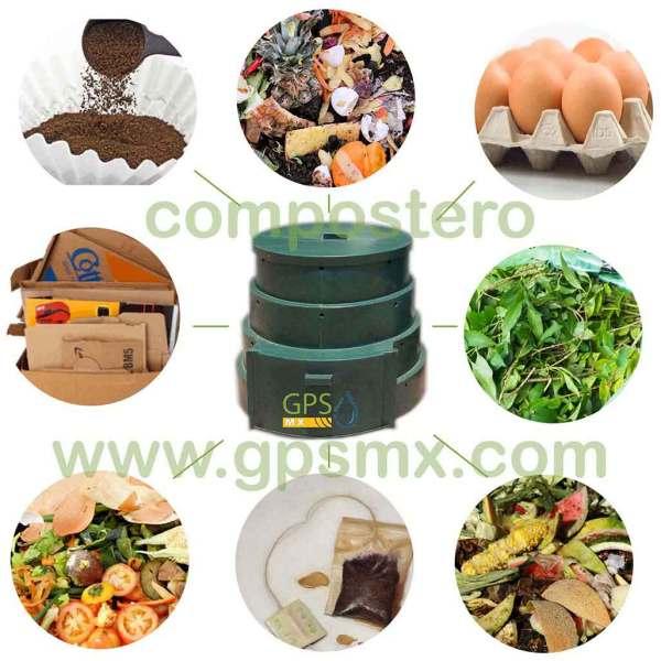 Composteros 450 Lts productos para compostero GPSMX