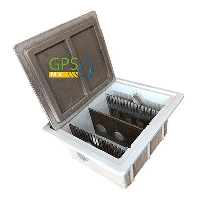 Lateral Trampa de grasa de 3 peines fabricada en concreto polimerico y fibra de vidrio