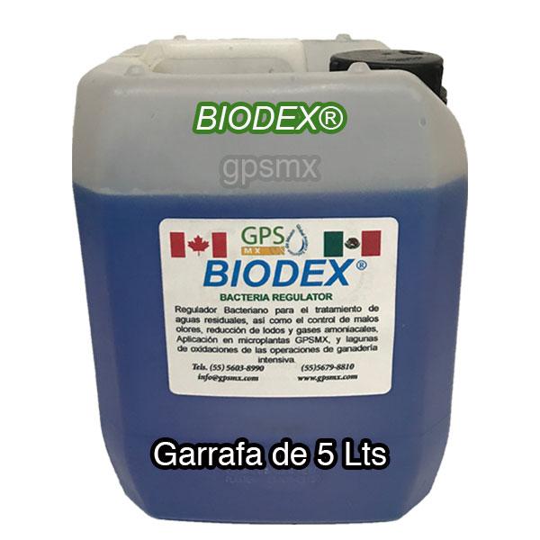 Garrafa de 5 Lts de Biodex regulador bacteriano para planta de tratamiento de agua residual