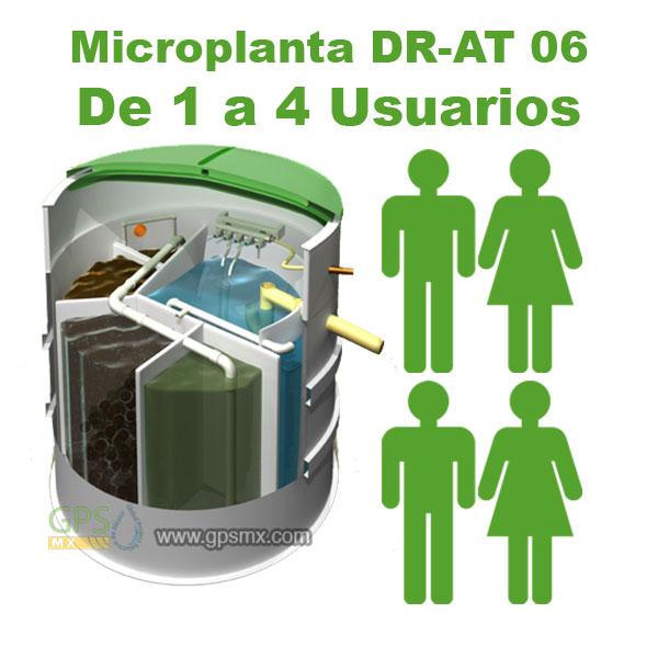 Planta de tratamiento de agua residual DR-AT Modelo 06 para 0.5 M3/día