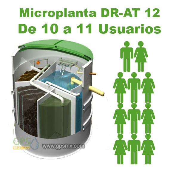 Planta de tratamiento de agua residual DR-AT Modelo 12 para 1.4 M3/día