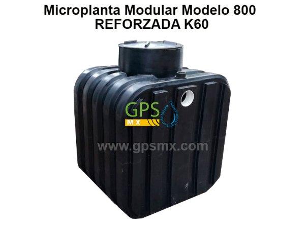 Microplanta de tratamiento de agua residual Gpsmx Modelo 800 K60 1 módulo