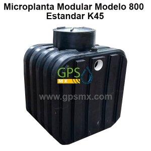 Microplanta de tratamiento de agua residual Gpsmx Modelo 800 K45 1 módulo