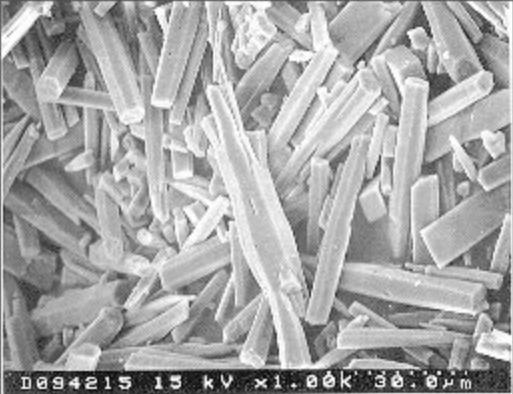 Elcla descalcificador magnético Elimina sarro Fig.2 Morfología del depósito dejado por agua no tratada con el acelerador iónico Elcla.