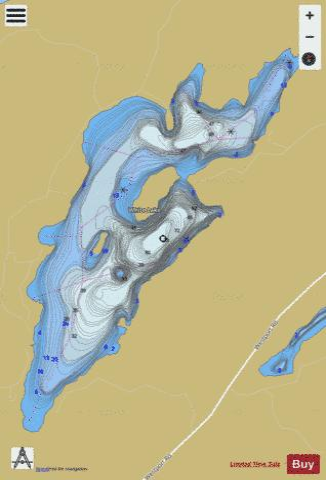 Lake Ontario Depth Chart : ontario, depth, chart, White, (Fishing, CA_ON_white_lake_on), Nautical, Charts