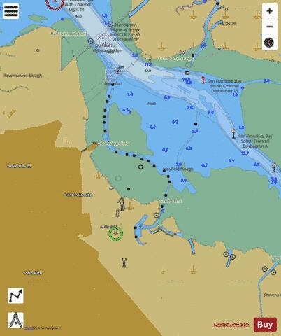 San Francisco Bay Fishing Map : francisco, fishing, FRANCISCO, ANTIOCH, MAYFIELD, SLOUGH, (Marine, Chart, US18652_P1829), Nautical, Charts