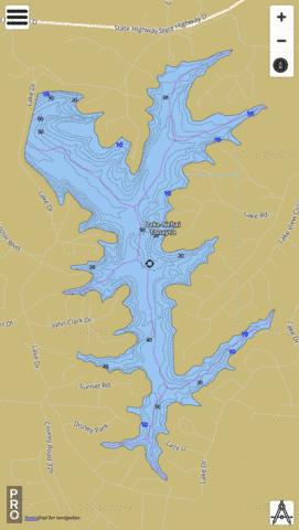 Lake Of The Ozarks Fishing Map : ozarks, fishing, Nehai, Tonayea, (Fishing, US_DL_MO_00761219), Nautical, Charts