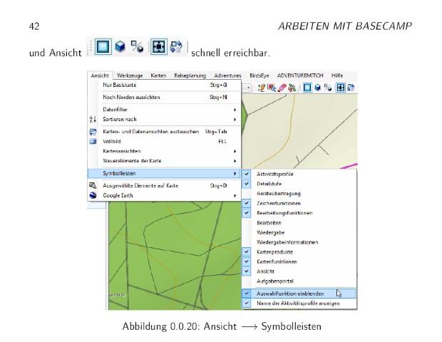 Testbericht: Handbuch zur Navigationssoftware Basecamp