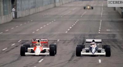 Na primeira, Alesi da o troco; depois, Senna antecipa tudo.