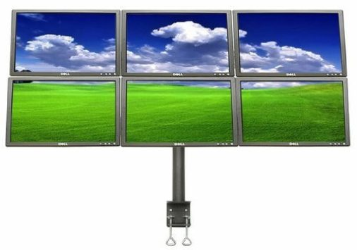 MonMount LCD-2060 6 Monitor Arm Stand