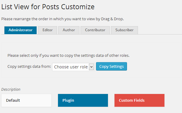 Added the user role tab