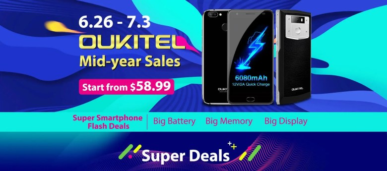 Oukitel mid-year sales