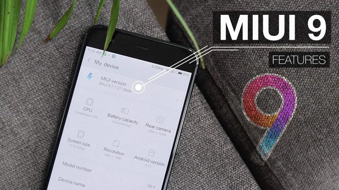 MIUI 9 Closed Beta