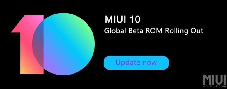 MIUI 10 Global Beta ROM