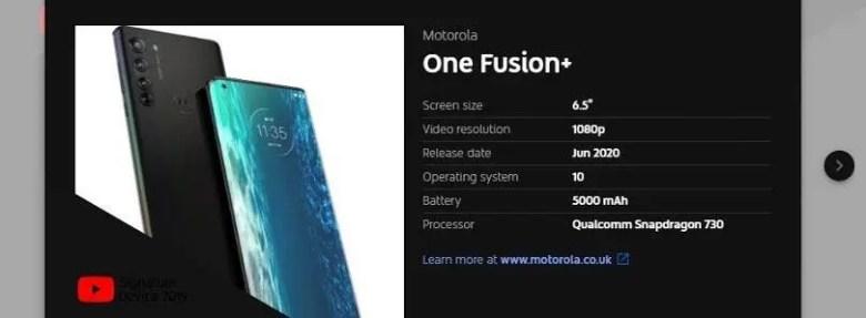 Moto One Fusion Plus