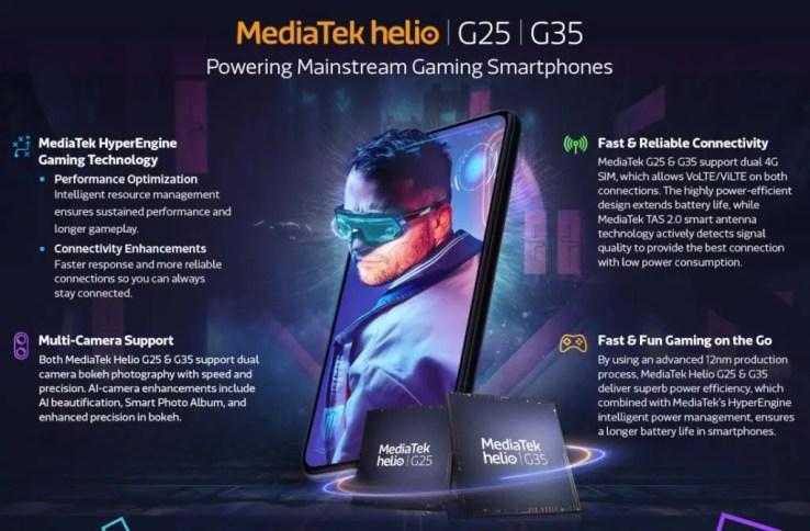 MediaTek Helio G35 and Helio G25