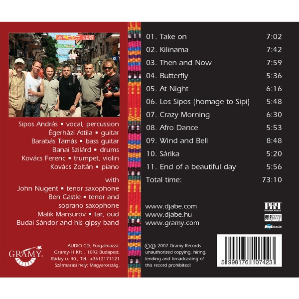 Djabe – Take On (CD) back cover
