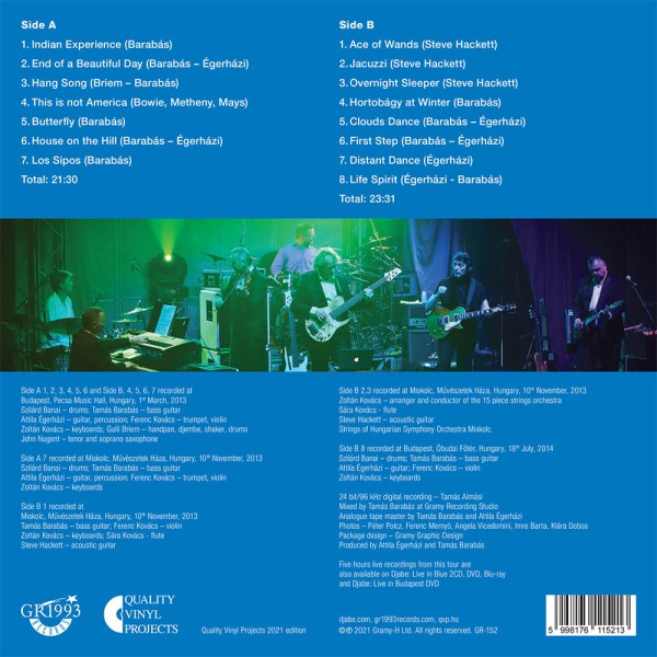 Djabe – Live in Blue LP Quality Vinyl Project Edition 2021 back