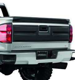 air design 2016 2018 chevy silverado tailgate applique cover satin black [ 1500 x 1500 Pixel ]