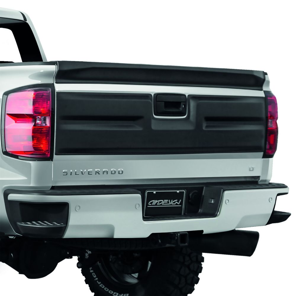 medium resolution of air design 2016 2018 chevy silverado tailgate applique cover satin black