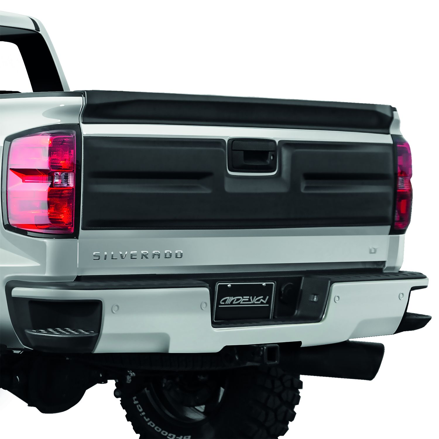 hight resolution of air design 2016 2018 chevy silverado tailgate applique cover satin black