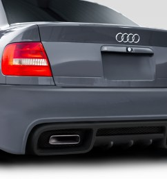 1996 2001 audi a4 s4 b5 4dr duraflex version 2 rear bumper 1 piece [ 1200 x 800 Pixel ]