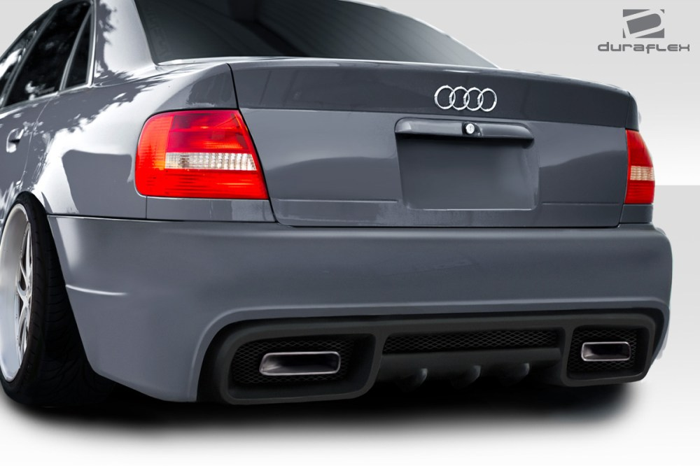 medium resolution of 1996 2001 audi a4 s4 b5 4dr duraflex version 2 rear bumper 1 piece