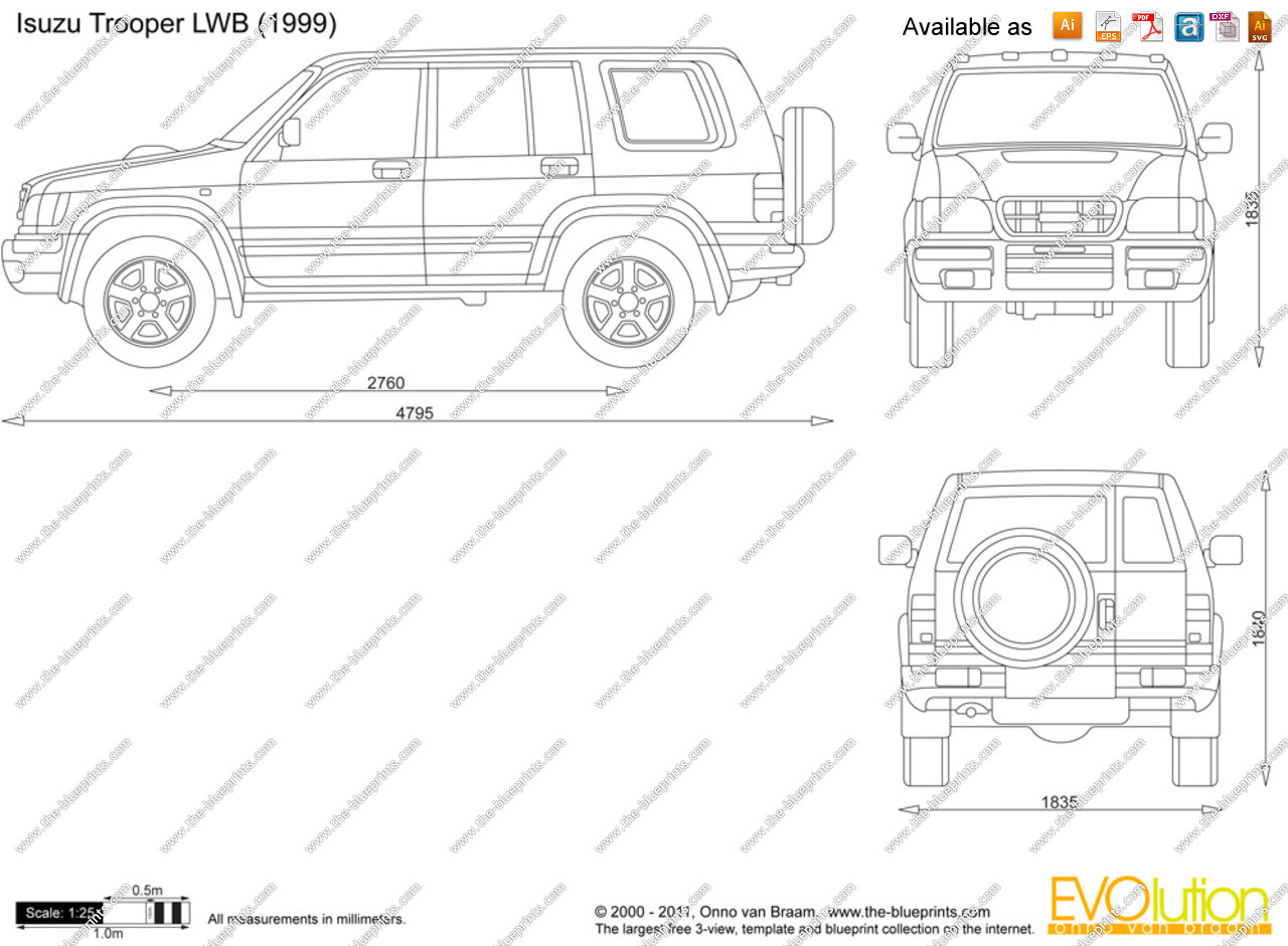 View of Isuzu Trooper LWB. Photos, video, features and
