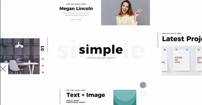Simple & Minimal PowerPoint Presentation Template
