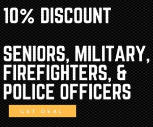 10% off military seniors police fire