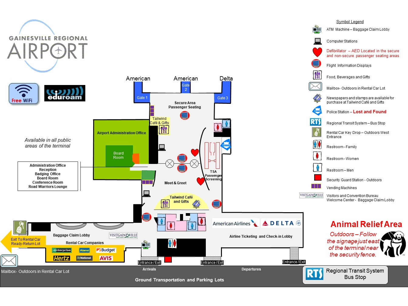 Terminal Map  Gainesville Regional Airport