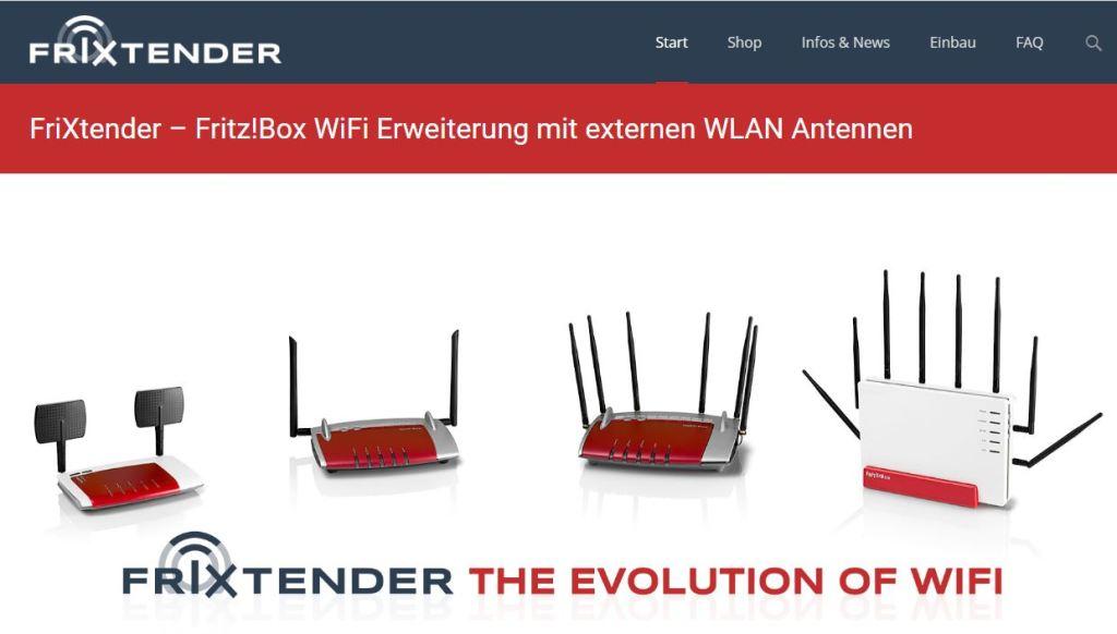Screenshot Frixtender Webseite