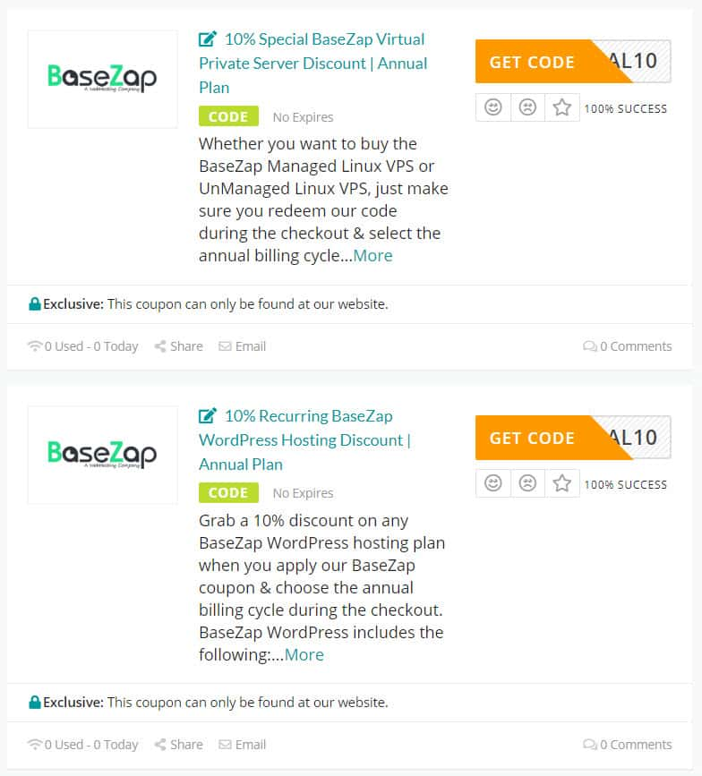 Copy BaseZap Coupon from here