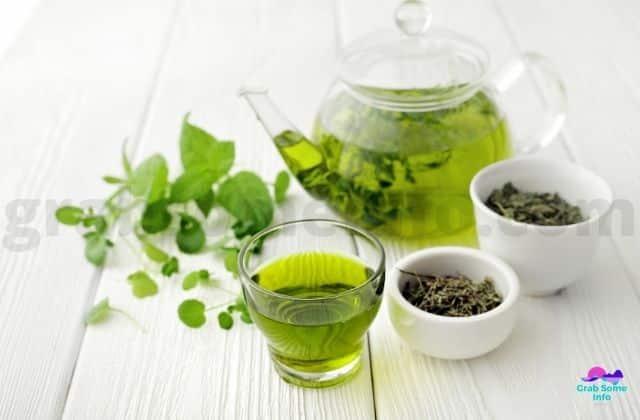 Tea & tea leaves on a Table